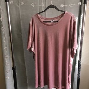 Dusty pink CRUSHED VELVET top